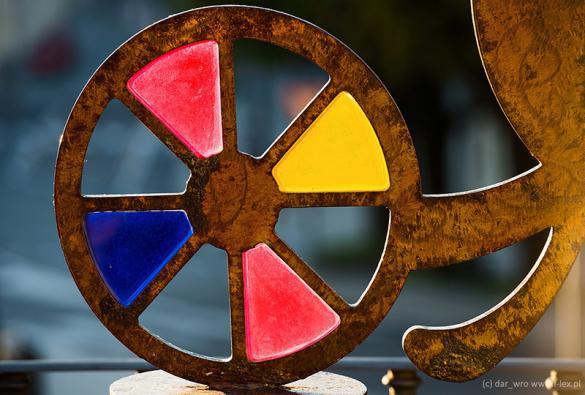 Kolorowy witraż na Fiesole koło Florencji
