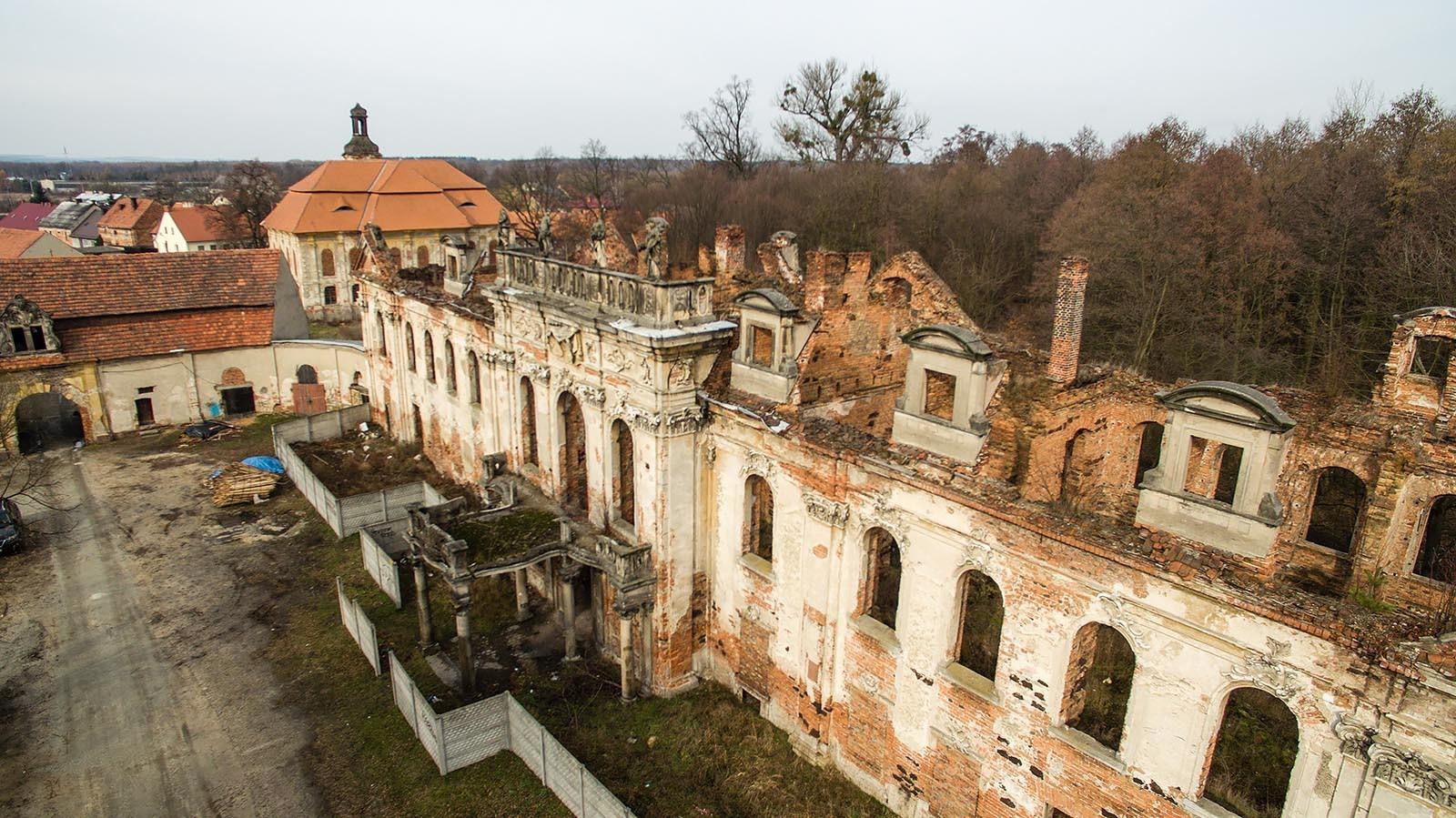 Ruina pałacu w Goszczu