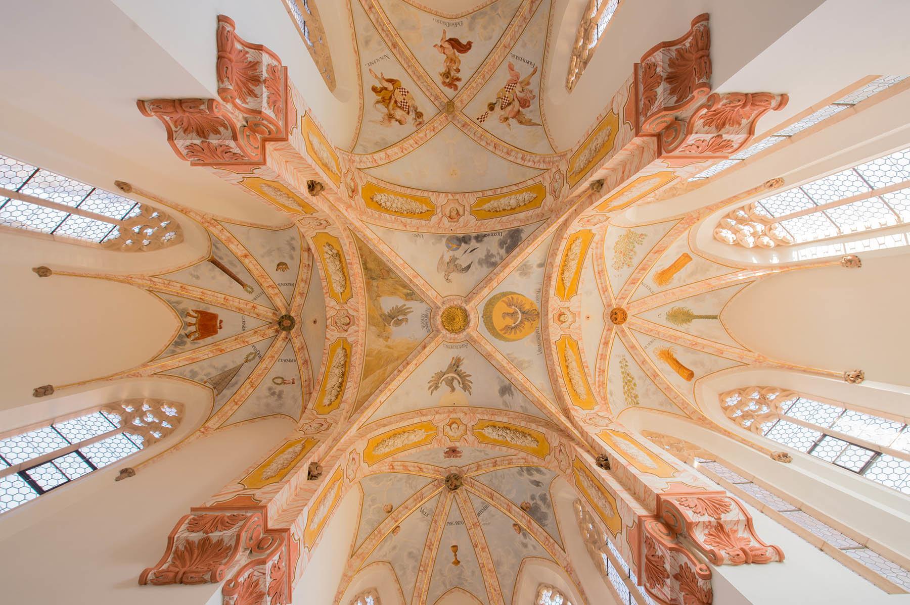 Odrestaurowana kaplica w kościele przy Opactwie w Lubiążu