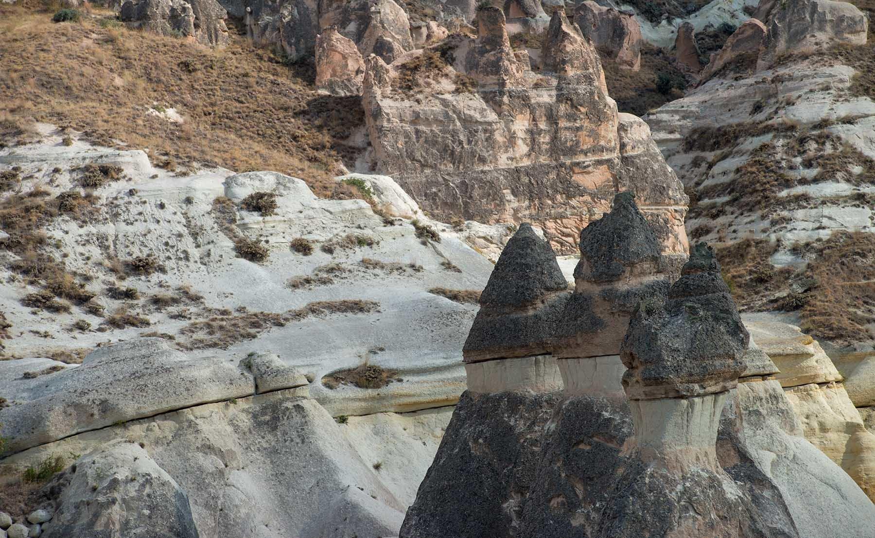 Skalne kominy w tureckiej Kapadocji