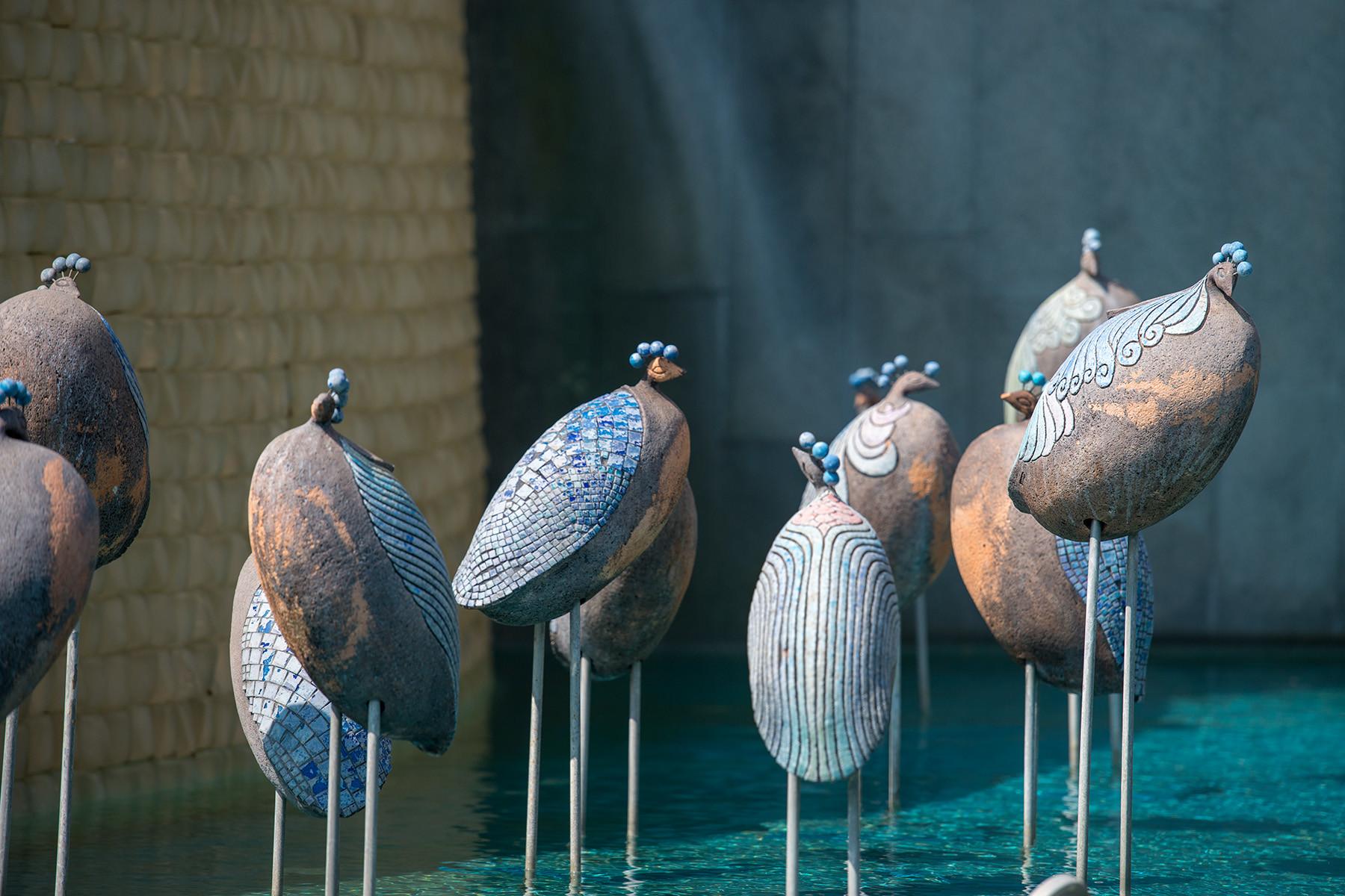 Tureckie ptaki - rzeźby