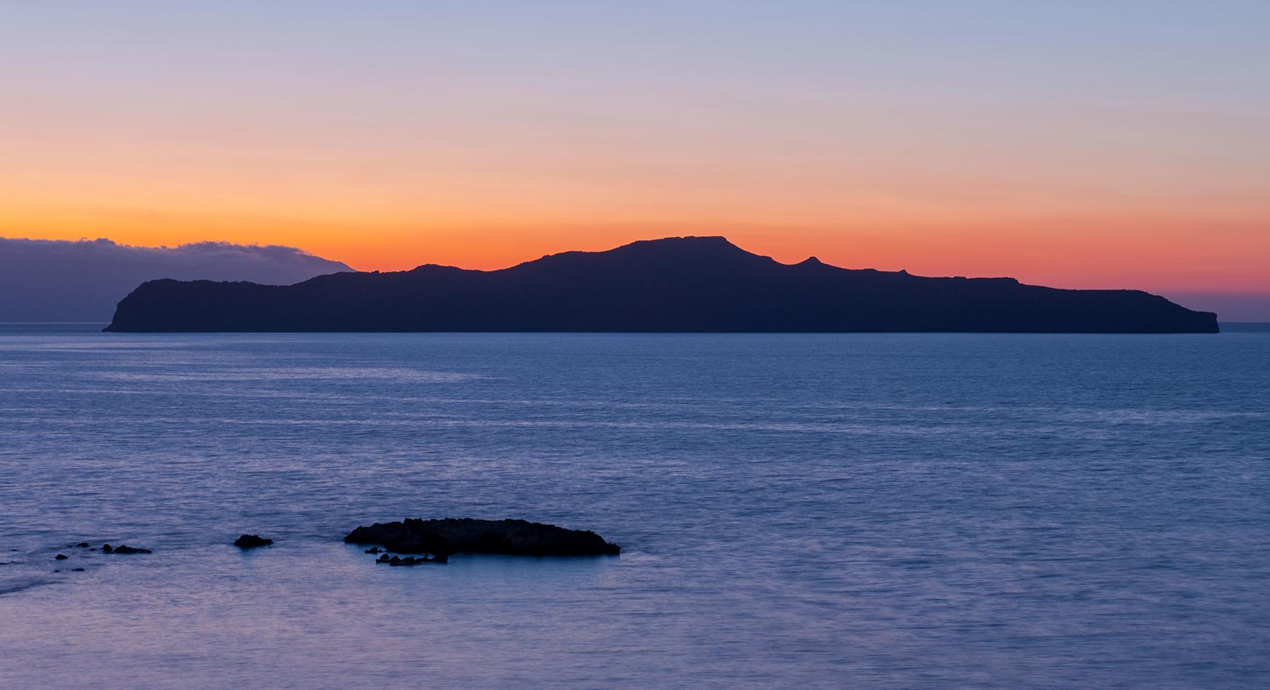 Zachód słońca na Krecie w oklicach Chani