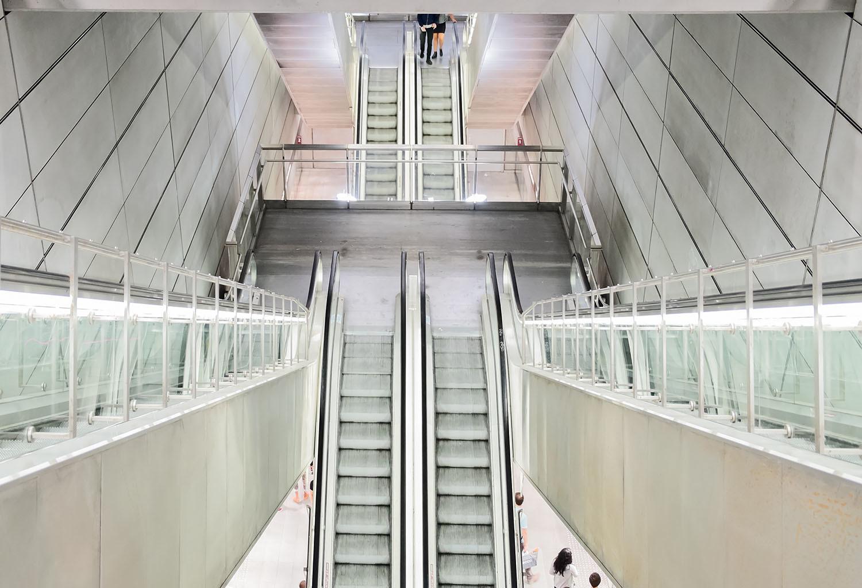 Zejście do metra w Kopenhadze