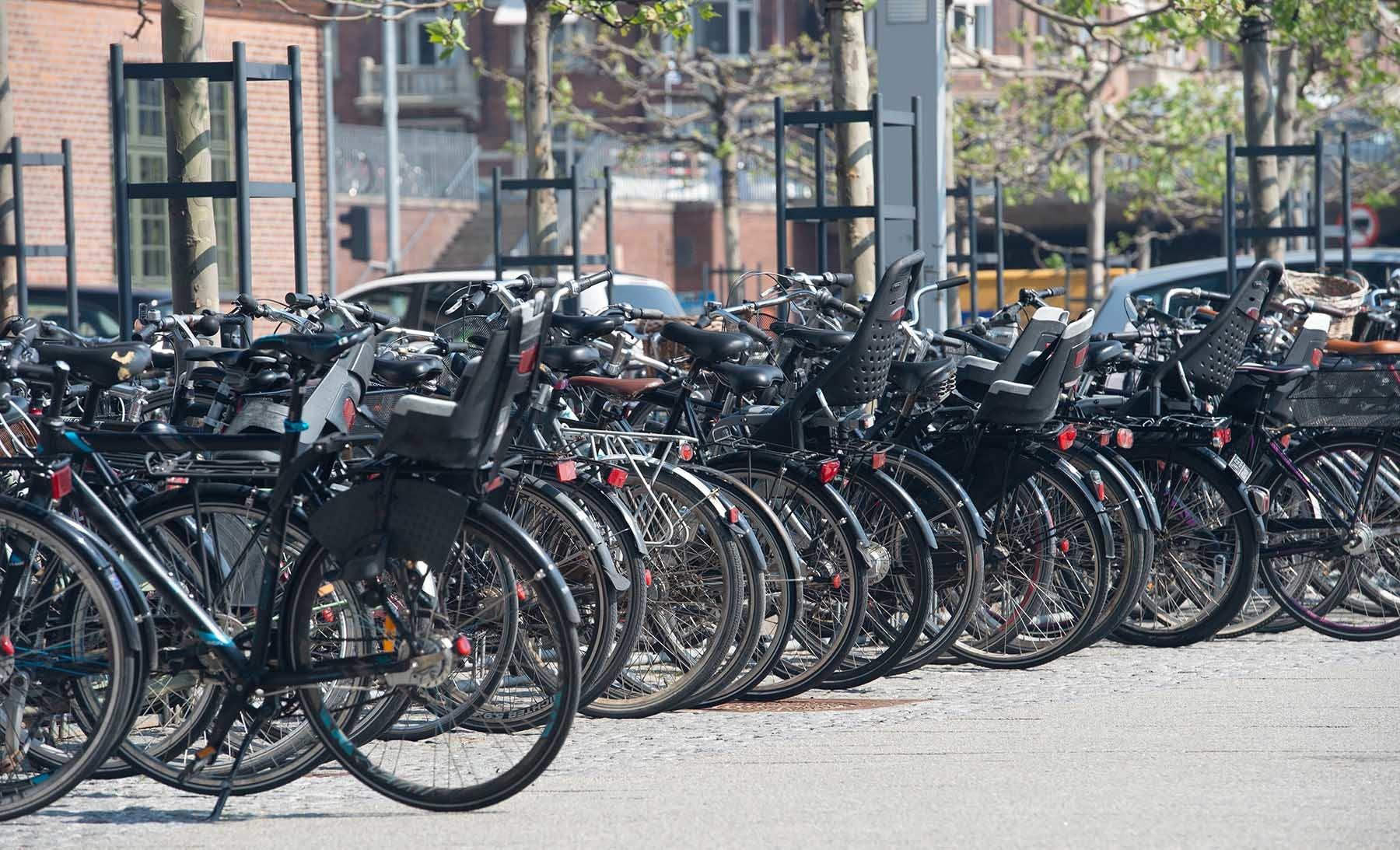 Rowery na parkingu rowerowym w stolicy Danii Kopenhadze